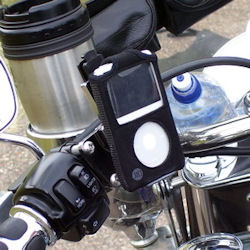 eCaddy Lite with iPod mounted
