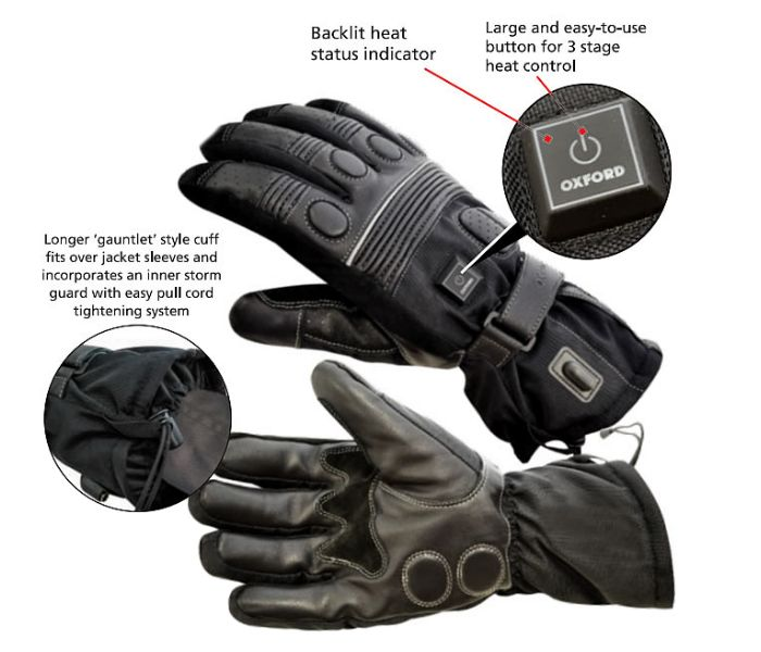 Oxford Hotgloves Heated Gloves With Controller Lockitt Com