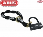 ABUS 12mm 4ft noose chain with Granit Victory round disc lock X-Plus 68//12KS120
