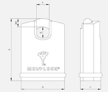 MulTlock E13SB dimensions